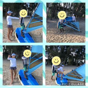 ウィンドサーフィンに初挑戦!!