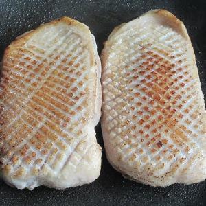 鴨肉の低温調理