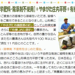 《無農薬・無化学肥料・除草剤不使用》山形・庄内の令和元年度産の新米を販売しております!!