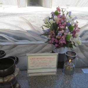 梅雨入り前の多磨霊園墓掃除
