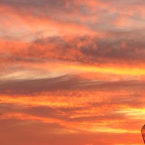 前原サロンからの夕日