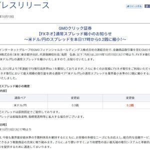 国内FX業者のドル円最狭スプレッドが0.2銭に!