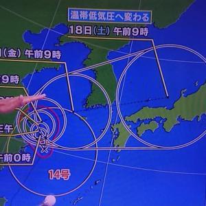 台風14号何これ
