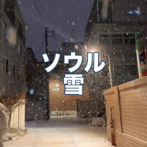 ソウル雪が降ってます!