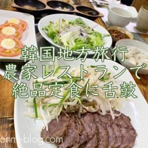 【韓国地方旅行】農家レストラン♪高霊(コリョン)のチャムサリで絶品定食に舌鼓☆