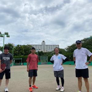 大連時代のテニス仲間と8年ぶりのテニス