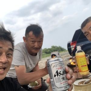 安曇川廣瀬 鮎解禁前夜祭^_^
