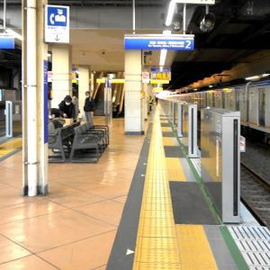 相鉄二俣川駅ホームドア設置中