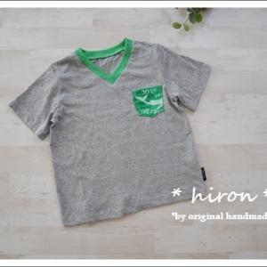 VネックTシャツ と ゆるプル