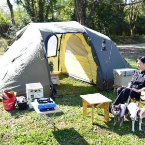 新幕で秋キャンプ(森まき)その1 ♪