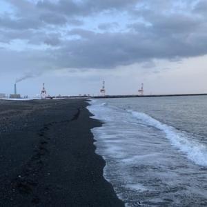 苫東サーフ 散歩で終わる