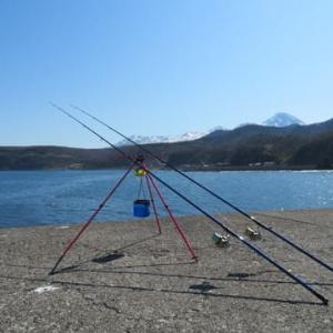ウトロ赤灯台カレイ釣り