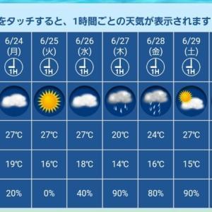 週末雨予報ですなぁ〜