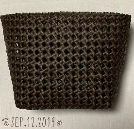 石畳編みのかご縁の処理まで