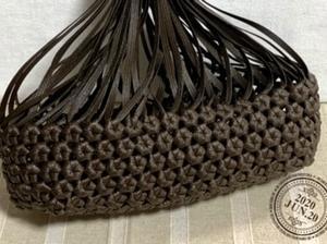 側面編み編み中