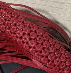 底を編み編み中