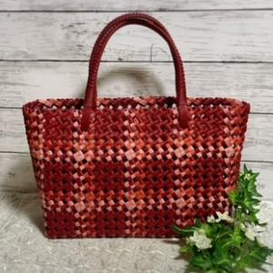 石畳編みのかごバッグ完成