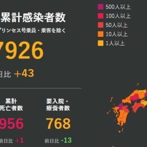 武漢肺炎 6月22日の状況