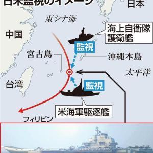 遼寧を追い回す日米艦