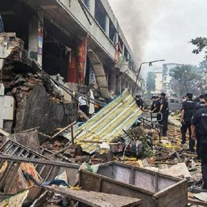 中国、ガス爆発。
