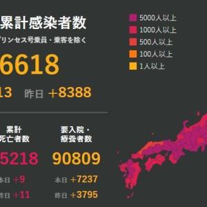 武漢肺炎8月3日の状況