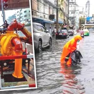 バンコク洪水、24日まで