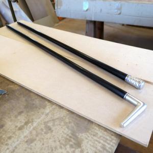 オーダー木製小物 黒檀のステッキ