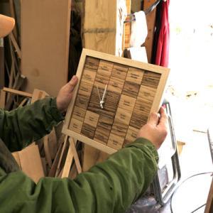 オーダー木製小物 結婚証明書 時計付き
