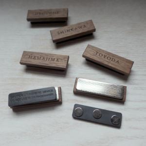オーダー木製小物 マグネット仕様の名札(ネームプレート)