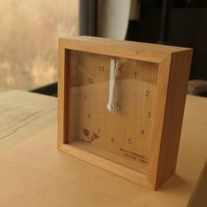 オーダー木製小物 卒園記念品卓上時計