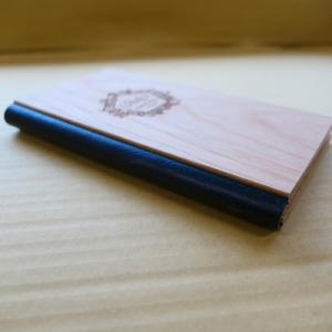オーダー木製小物 二つ折り伝票ホルダー