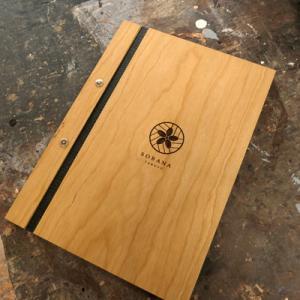 オーダー木製小物 木のメニューブックB5