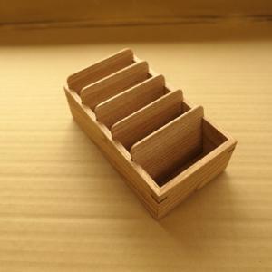 オーダー木製小物 木の伝票ケース