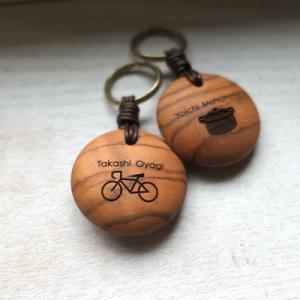 オーダー木製小物 好きなイラストを入れてプレゼント 父の日木製キーホルダー