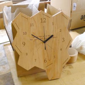 オーダー木製小物 記念品の掛け時計