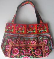花モン族刺繍トートバッグ