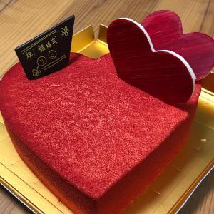結婚25周年のケーキ