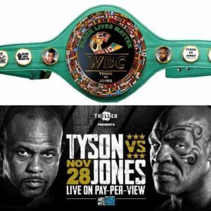 11/28 マイク・タイソン ex ロイ・ジョーンズJr 「WBC特別ベルト贈呈!」