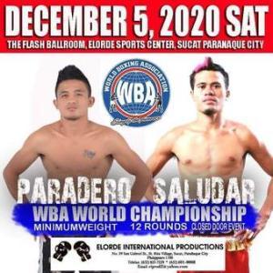 1/30「4位サルダールvs5位パラデロ」 WBA世界ミニマム級正規王座決定戦