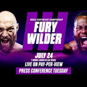 7/24 フューリーvsワイルダーⅢ「正式発表!」 WBC世界ヘビー級戦