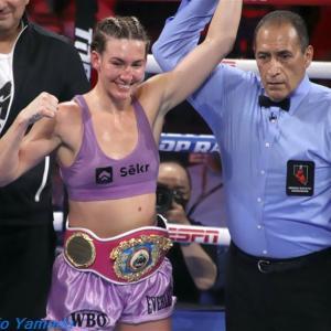【Photo】ミカエラ・メイヤーvsエリカ・ファリアス WBO世界女子スーパーフェザー級戦