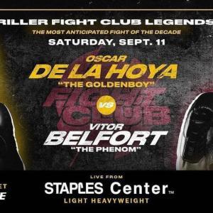 9/11 48歳デラホーヤvs元UFC王者ベウフォート 「公式試合」 180P契約・8回戦