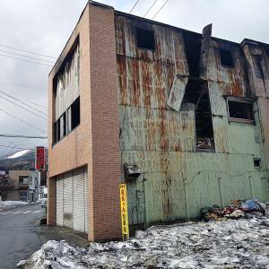 悲しい焼け跡・・・大湊新町の繁華街