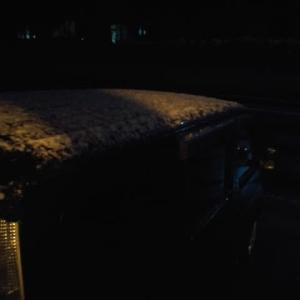こんばんはー🌙😃❗⛄⛄⛄雪!