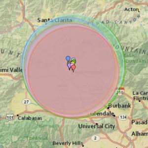 LAサンフェルナンドバレーで地震