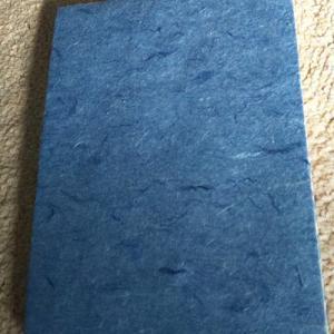 琉球藍染の和紙で折本作り