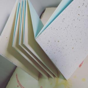 和紙のシンプル折本