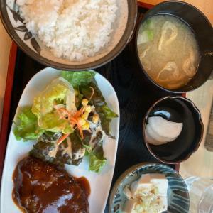 杉並区高円寺北の商店街にある「カフェテラスごん」のハンバーグ定食