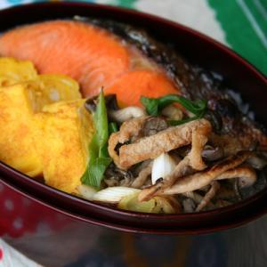 きょうのお弁当、鮭弁。
