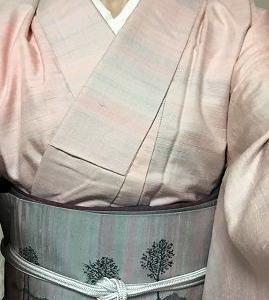 紅花紬の着物に紅花紬の帯 この組み合わせいいかも♪